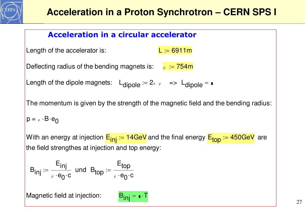 Acceleration in a Proton Synchrotron