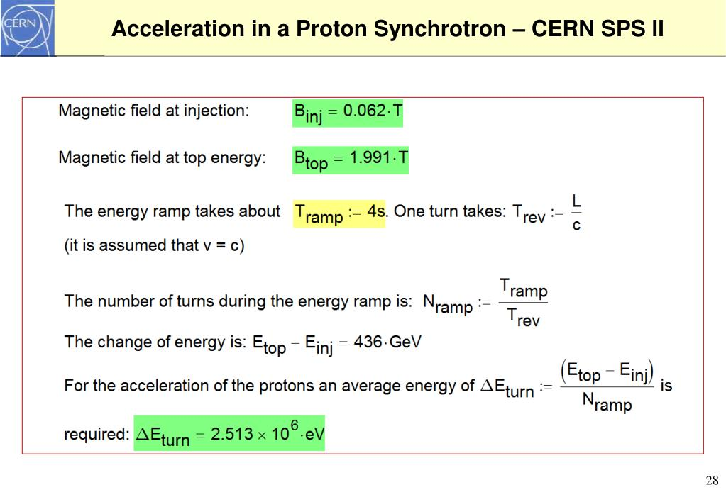Acceleration in a Proton