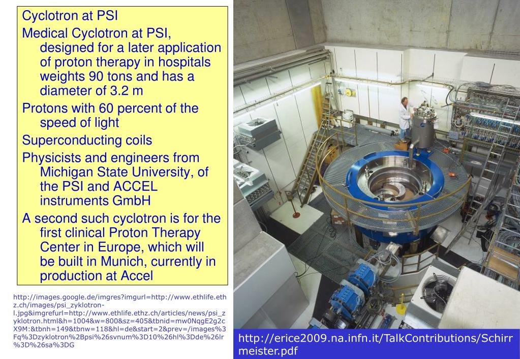 Cyclotron at PSI