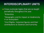 interdisciplinary units