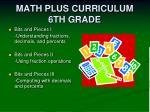 math plus curriculum 6th grade