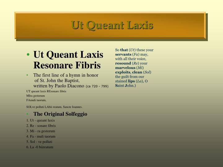 Ut Queant Laxis