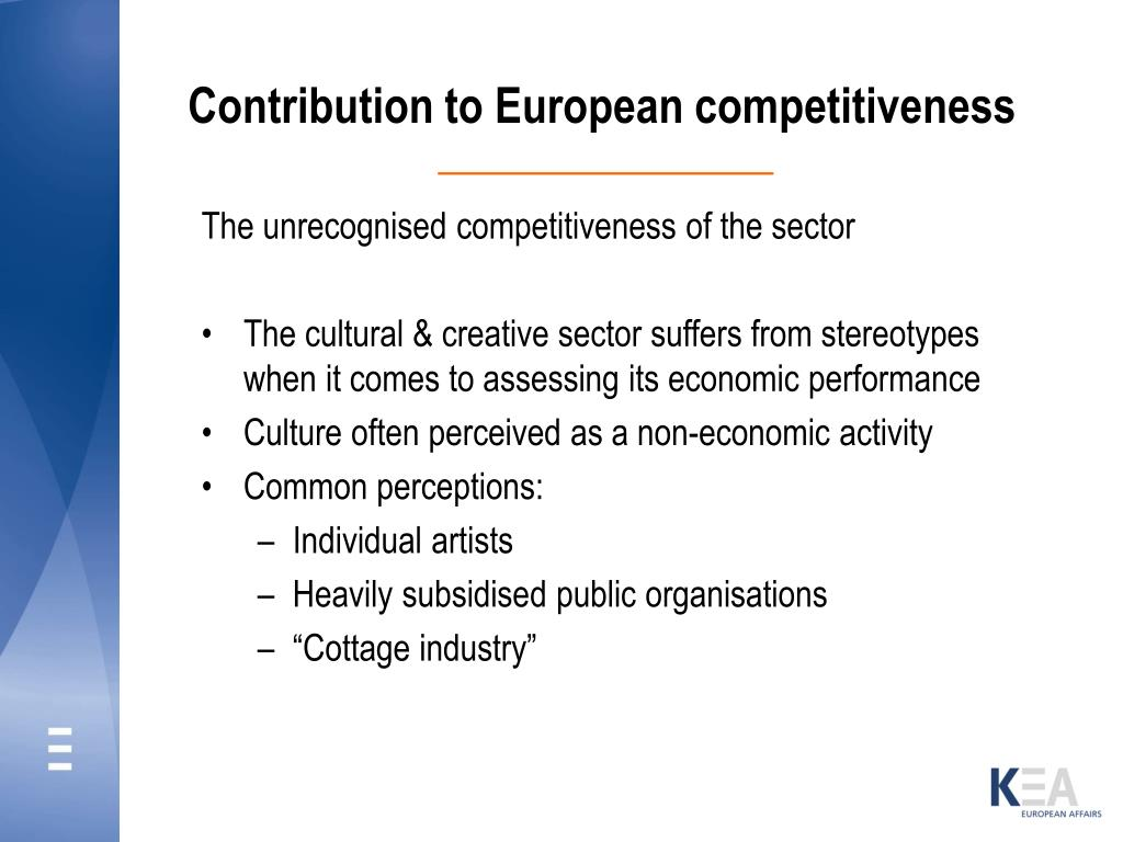 Contribution to European competitiveness