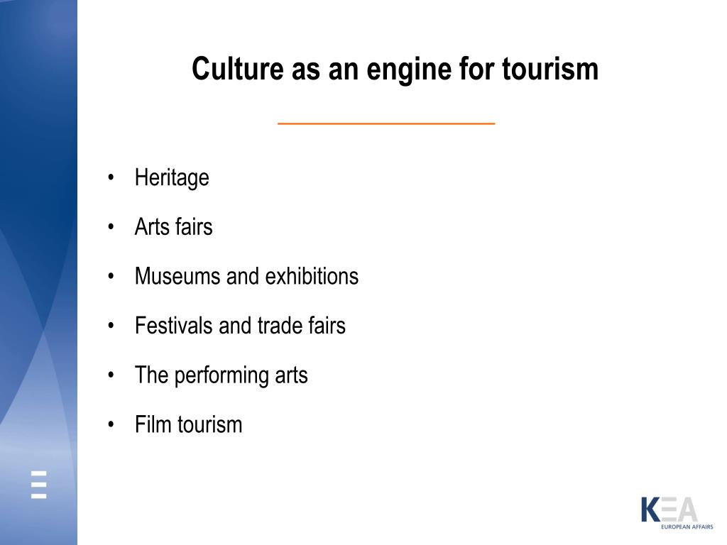Culture as an engine for tourism