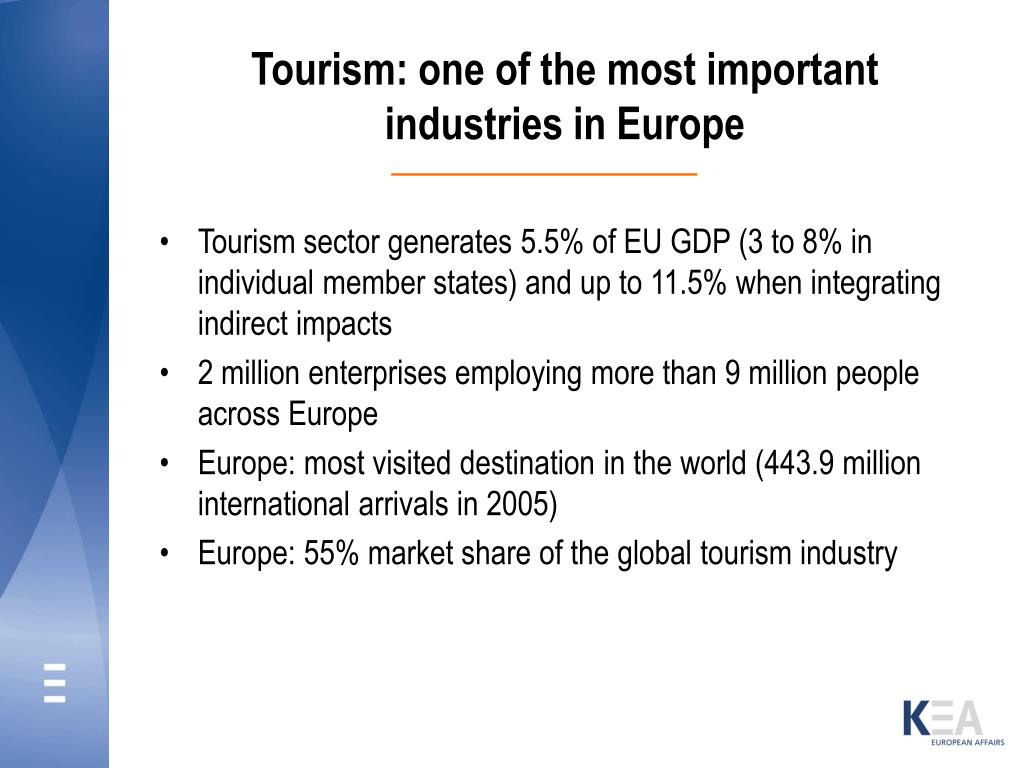 Tourism: one of the most important industries in Europe