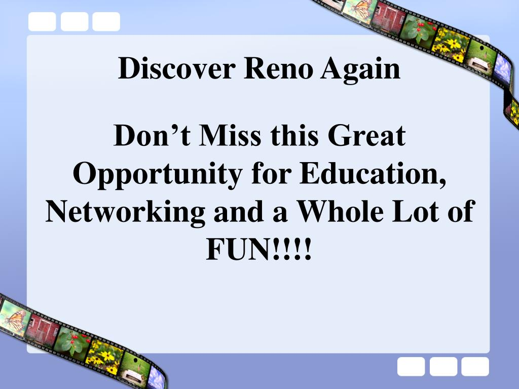 Discover Reno Again