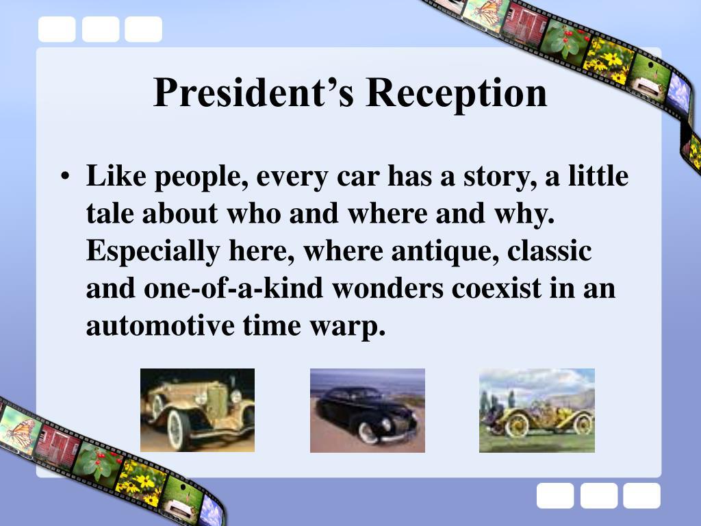President's Reception