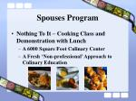 spouses program