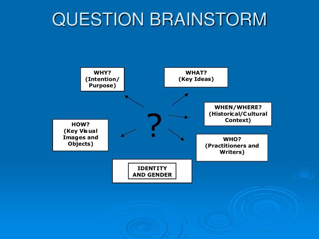 QUESTION BRAINSTORM