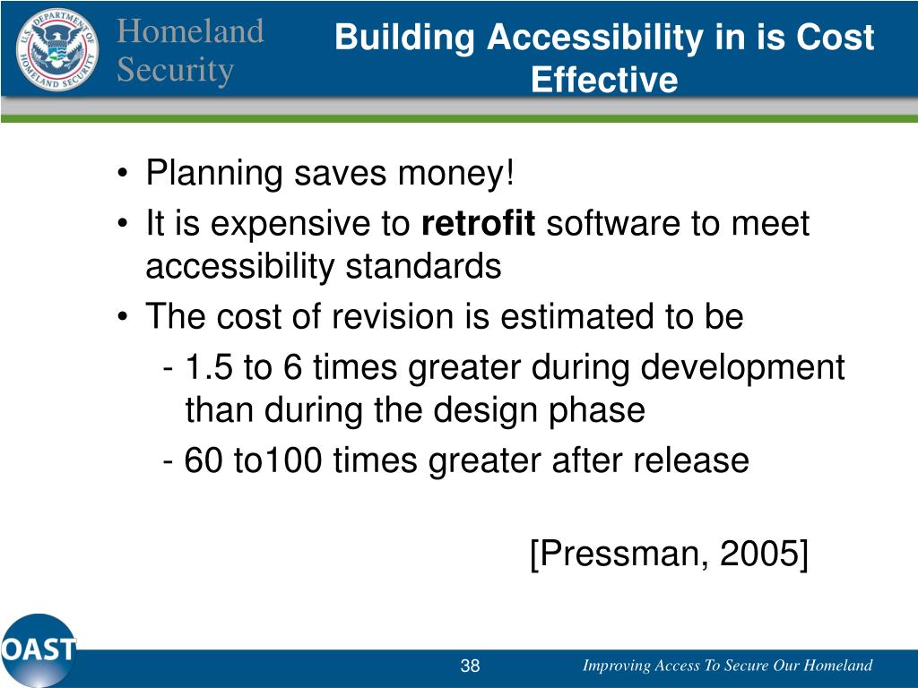 Building Accessibility in is Cost Effective