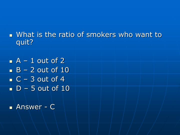 What is the ratio of smokers who want to quit?