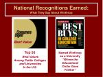 national recognitions earned what they say about winthrop5