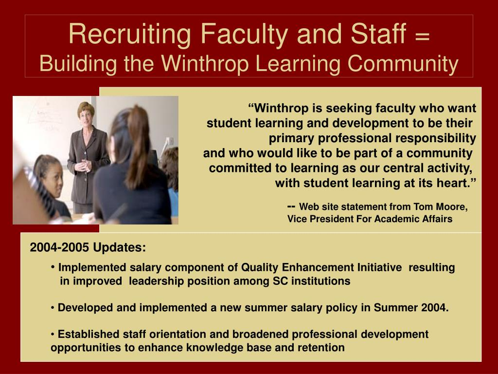 Recruiting Faculty and Staff =