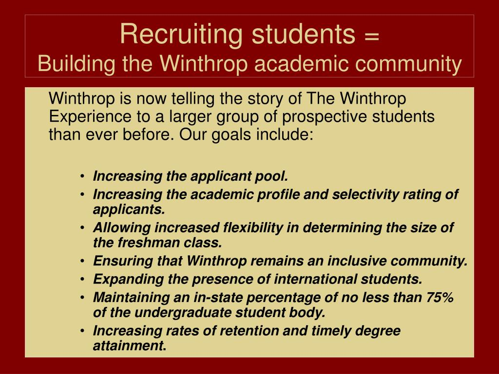 Recruiting students =