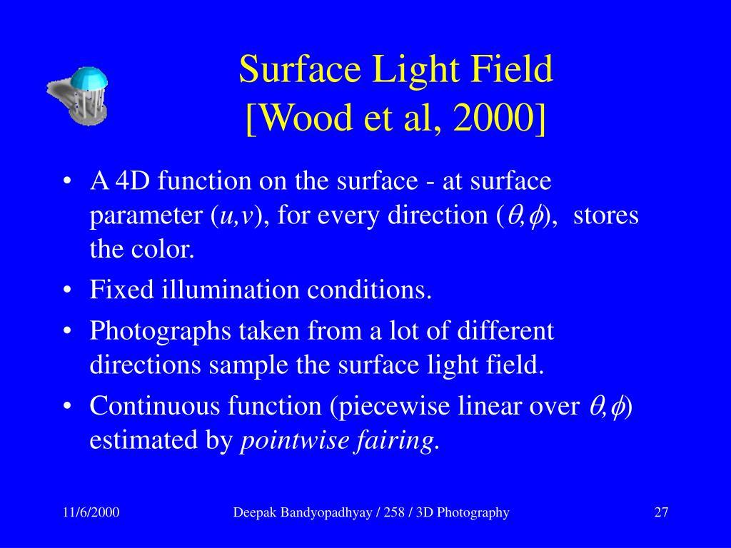 Surface Light Field