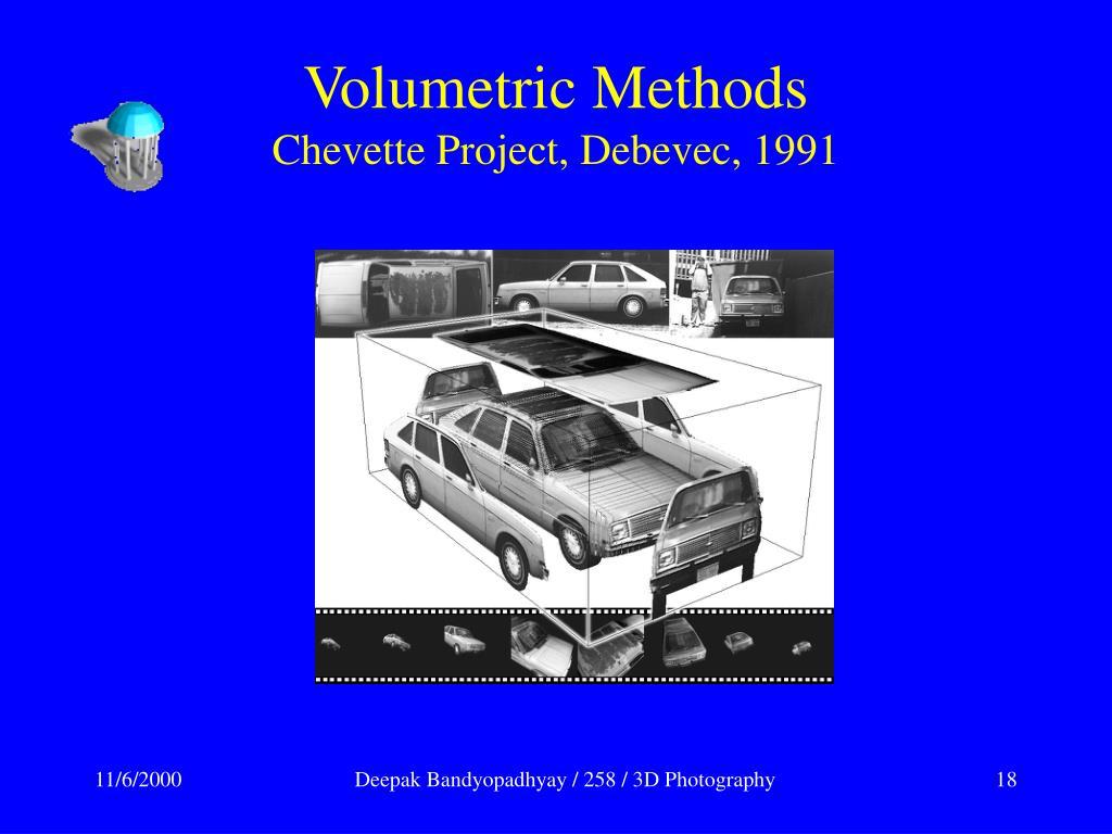 Volumetric Methods
