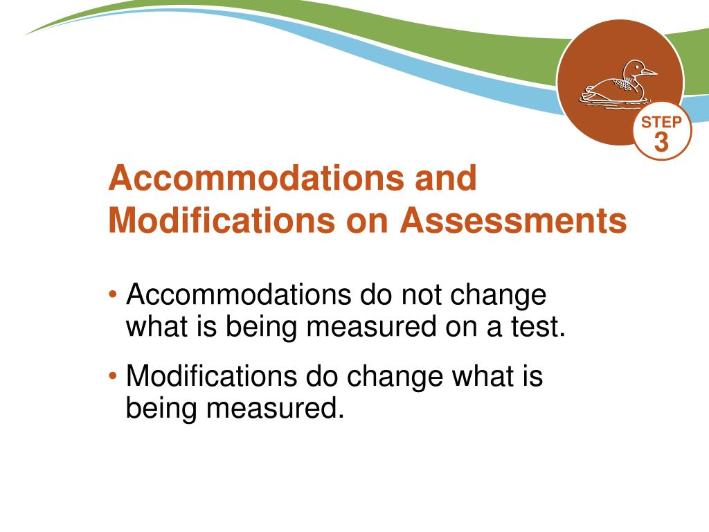 Accommodations and Modifications on Assessments