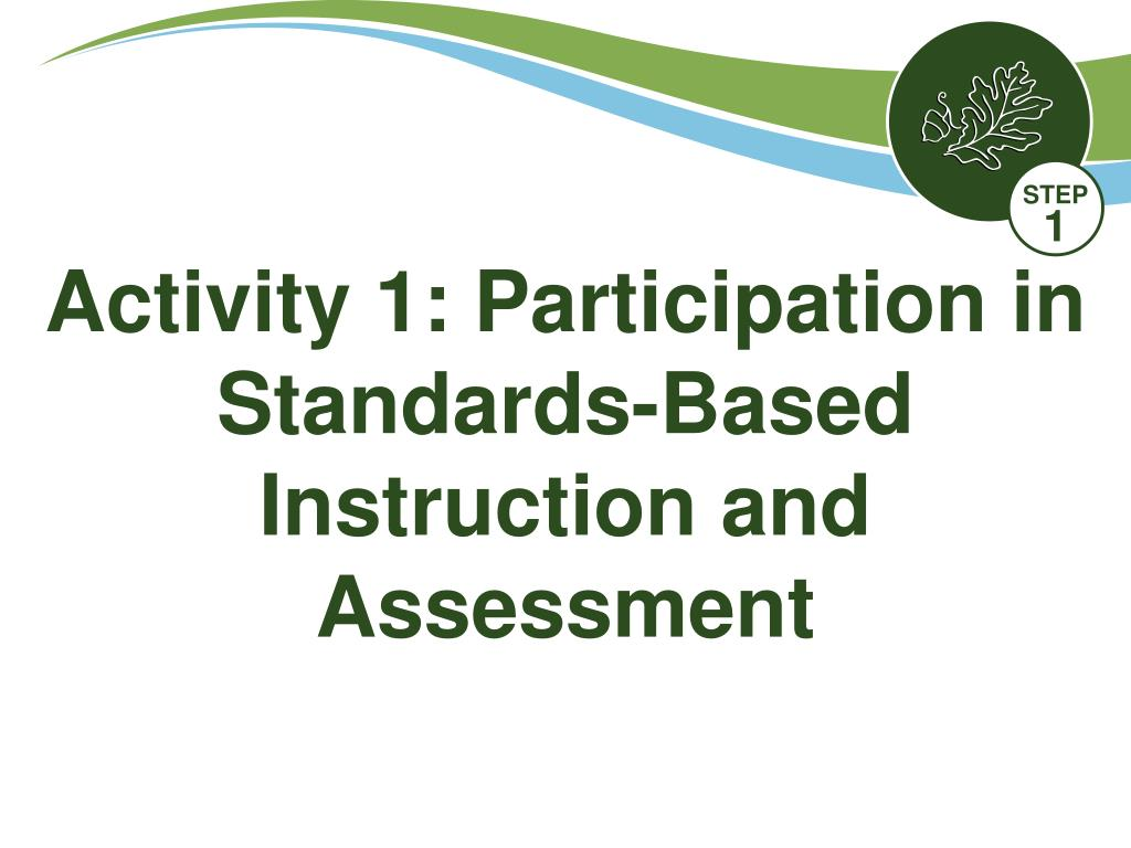 Activity 1: Participation in Standards-Based Instruction and Assessment