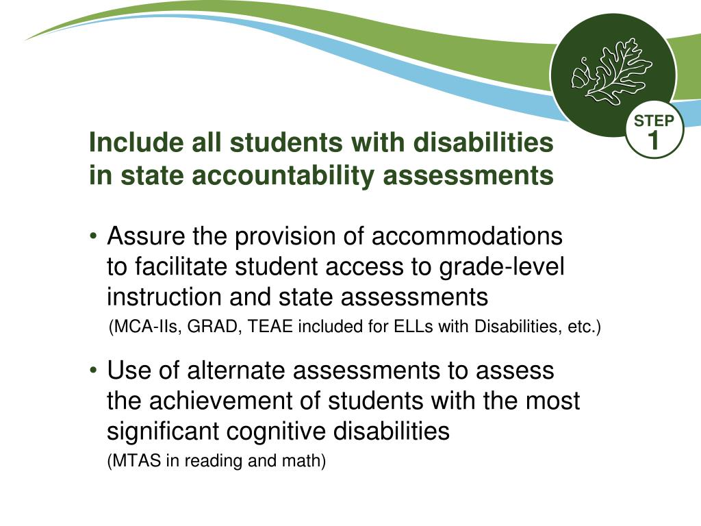 Include all students with disabilities