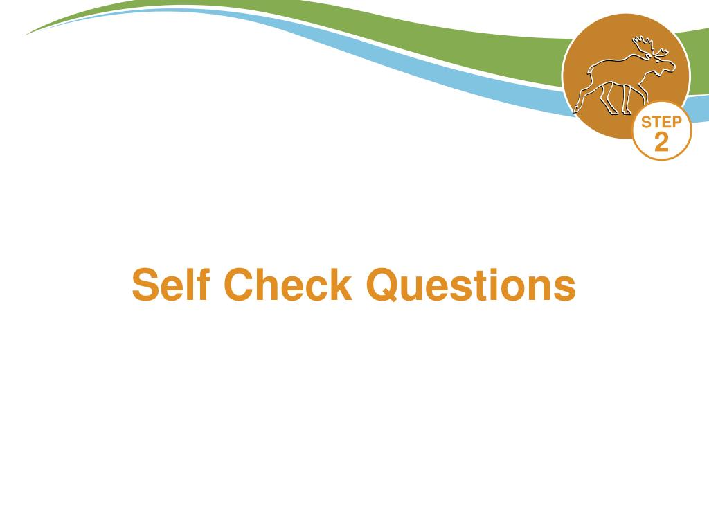 Self Check Questions