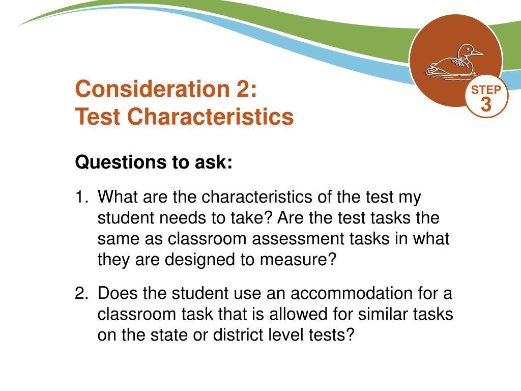 Consideration 2: