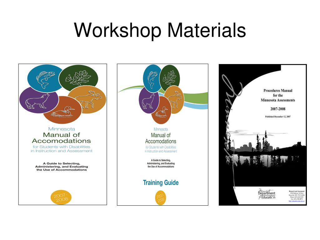 Workshop Materials