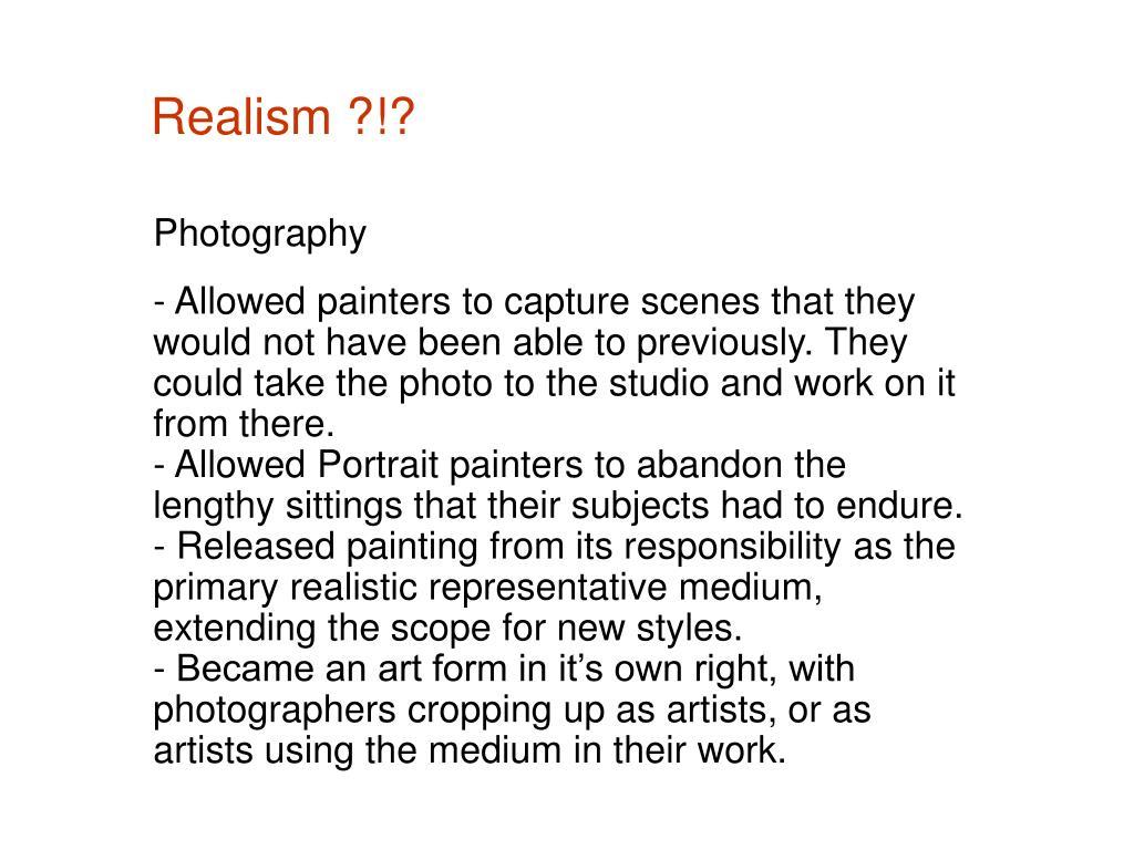 Realism ?!?