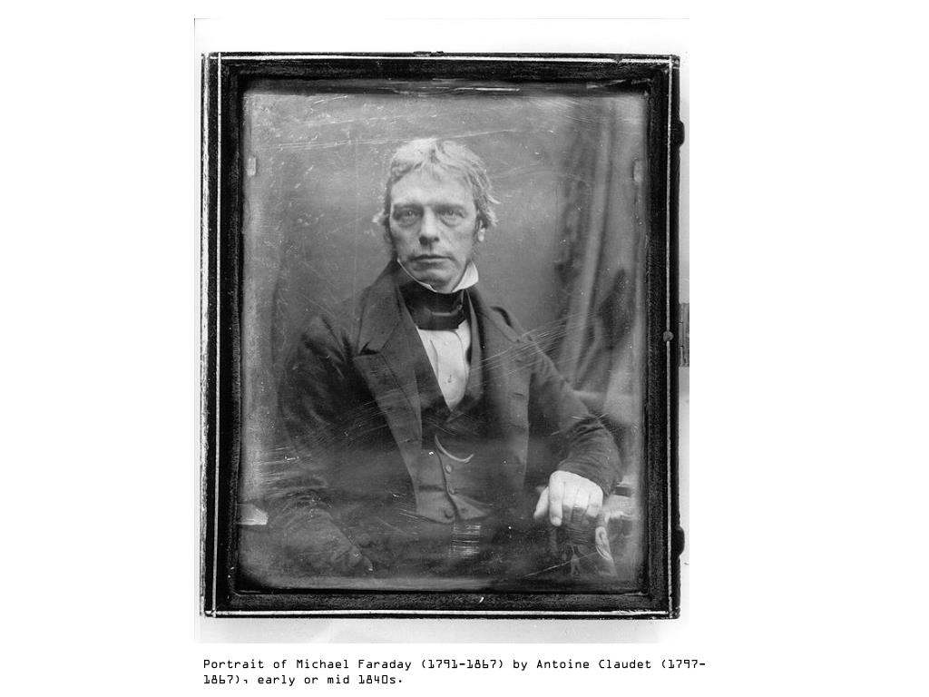 Portrait of Michael Faraday (1791-1867) by Antoine Claudet (1797-1867), early or mid 1840s.