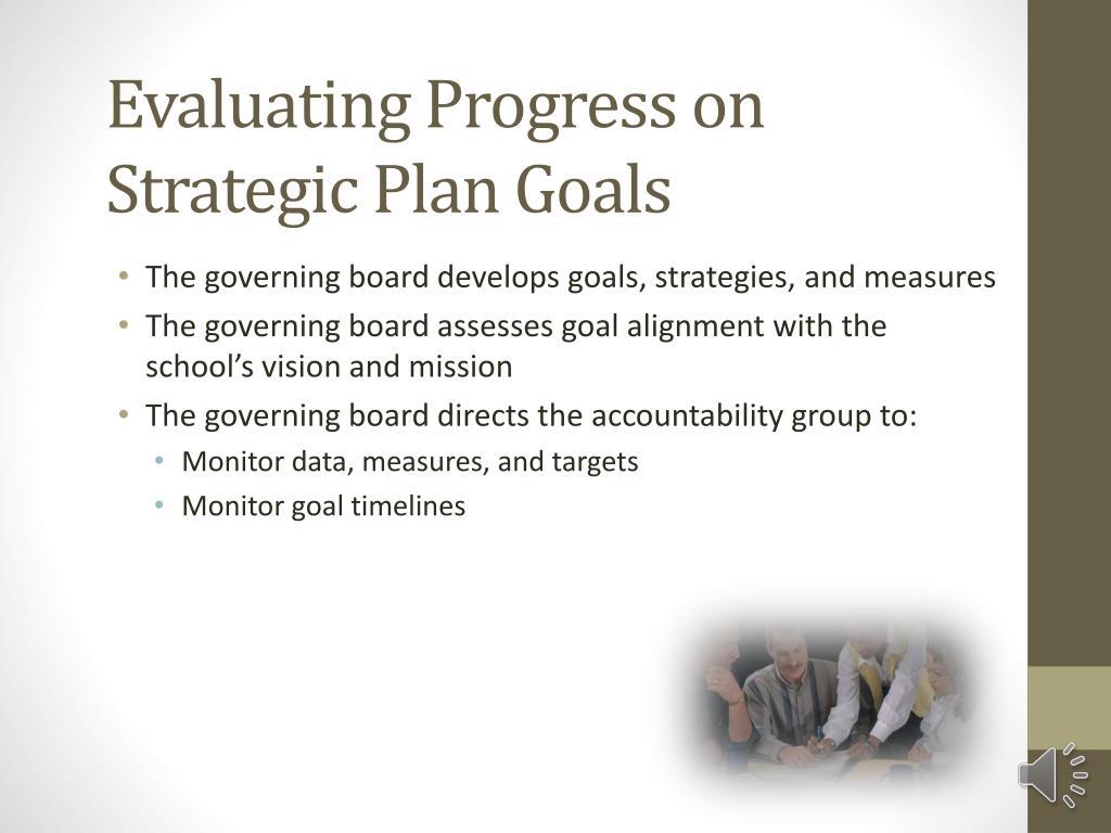 Evaluating Progress on Strategic Plan Goals