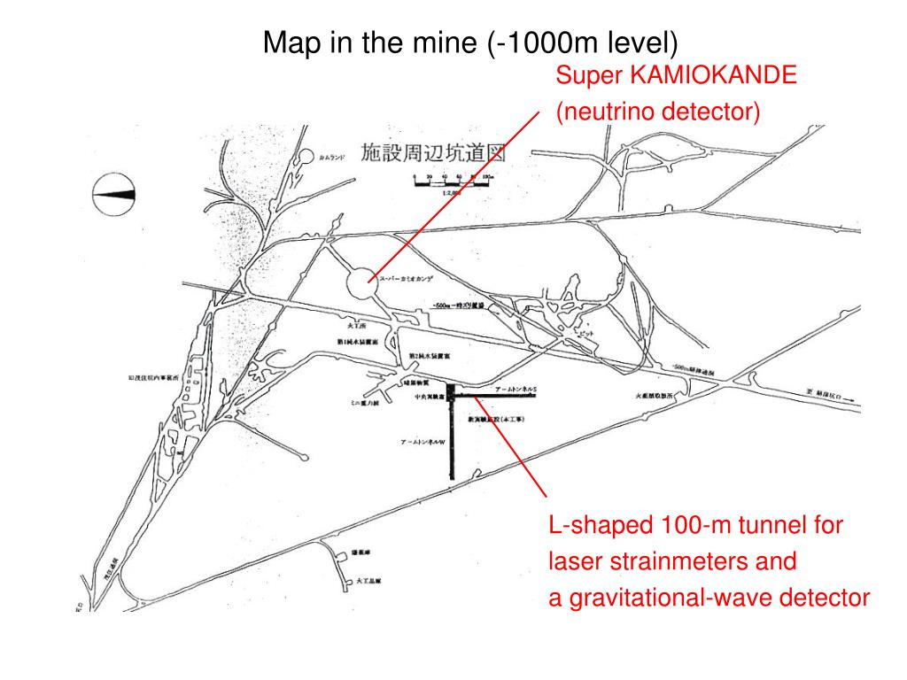 Map in the mine (-1000m level)