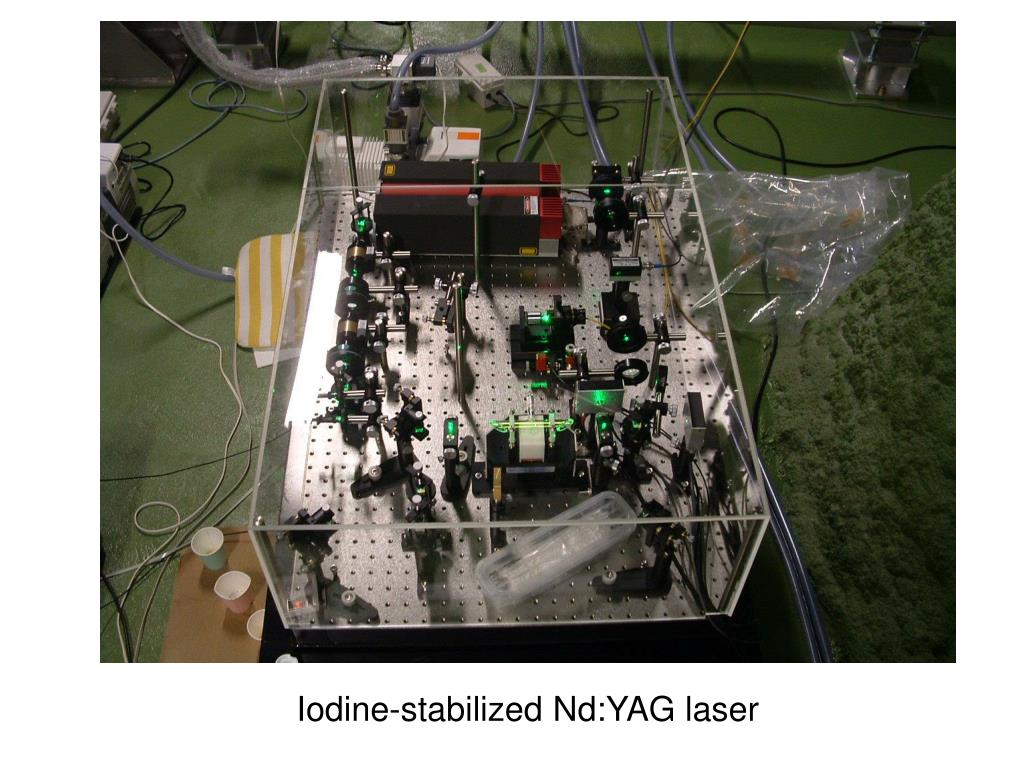 Iodine-stabilized Nd:YAG laser