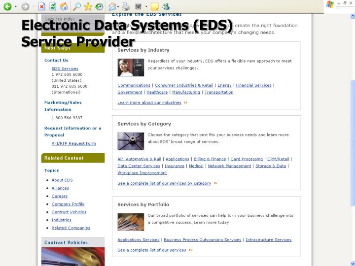 Electronic Data Systems (EDS)