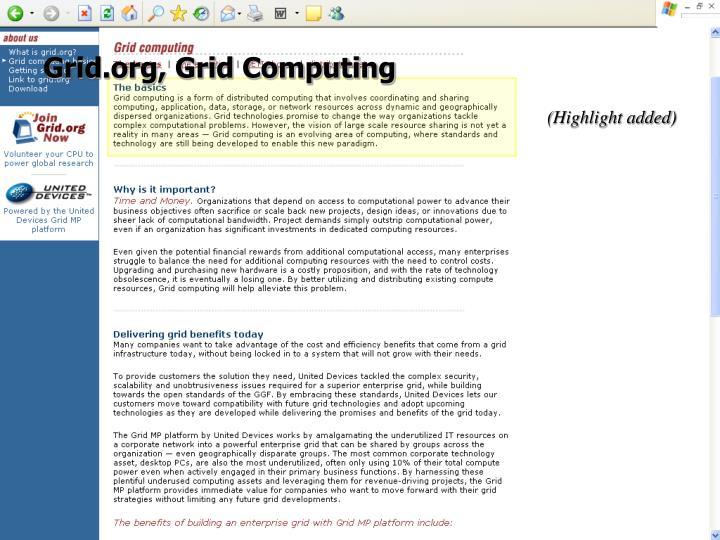 Grid.org, Grid Computing