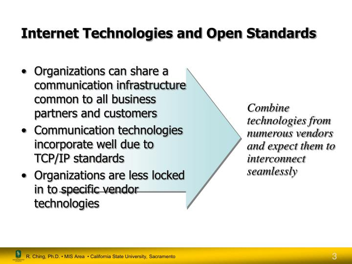 Internet technologies and open standards