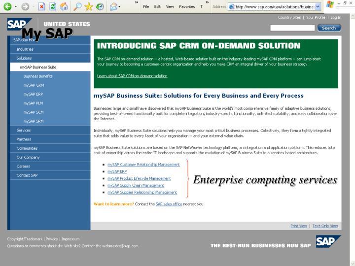 My SAP