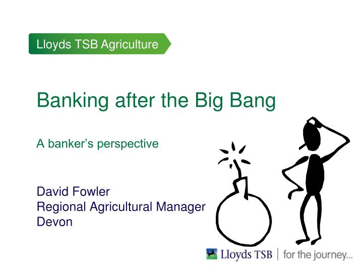 Banking after the big bang a banker s perspective