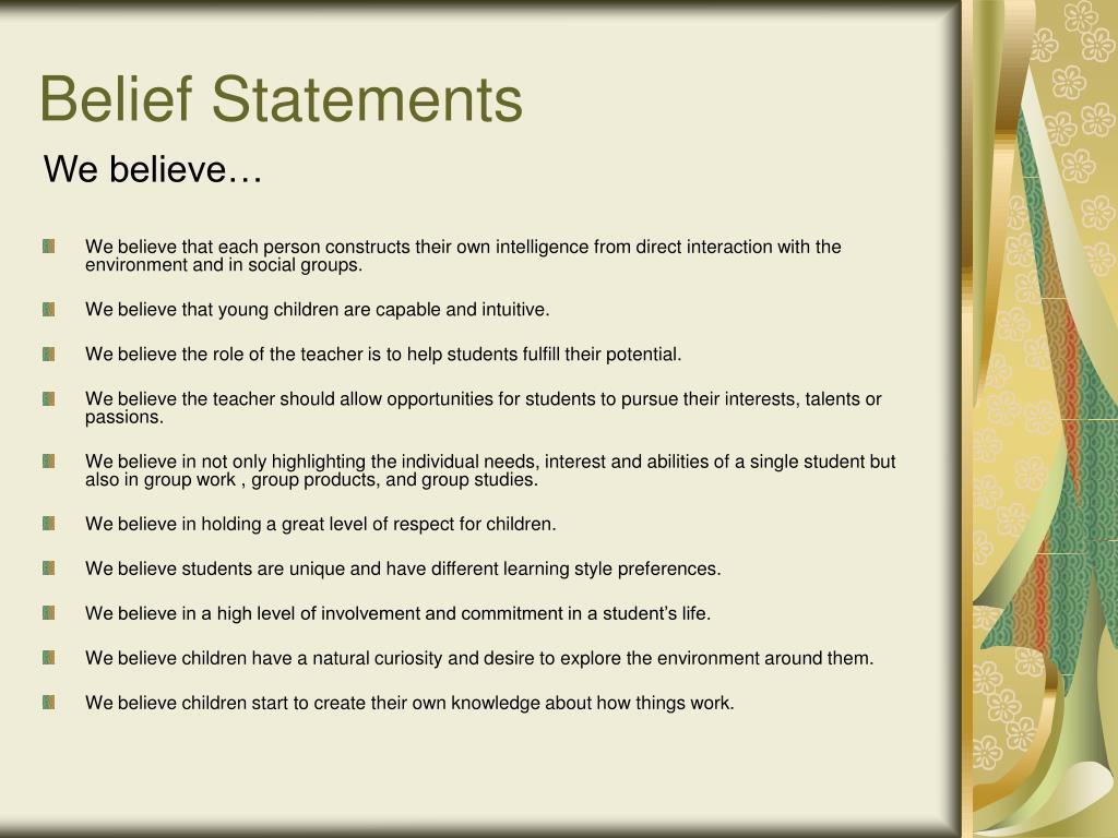 Belief Statements