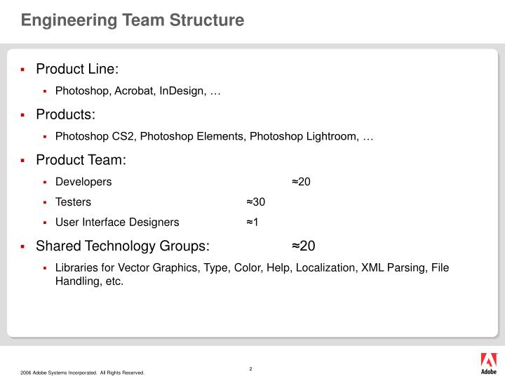 Engineering team structure