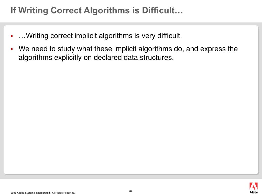If Writing Correct Algorithms is Difficult…