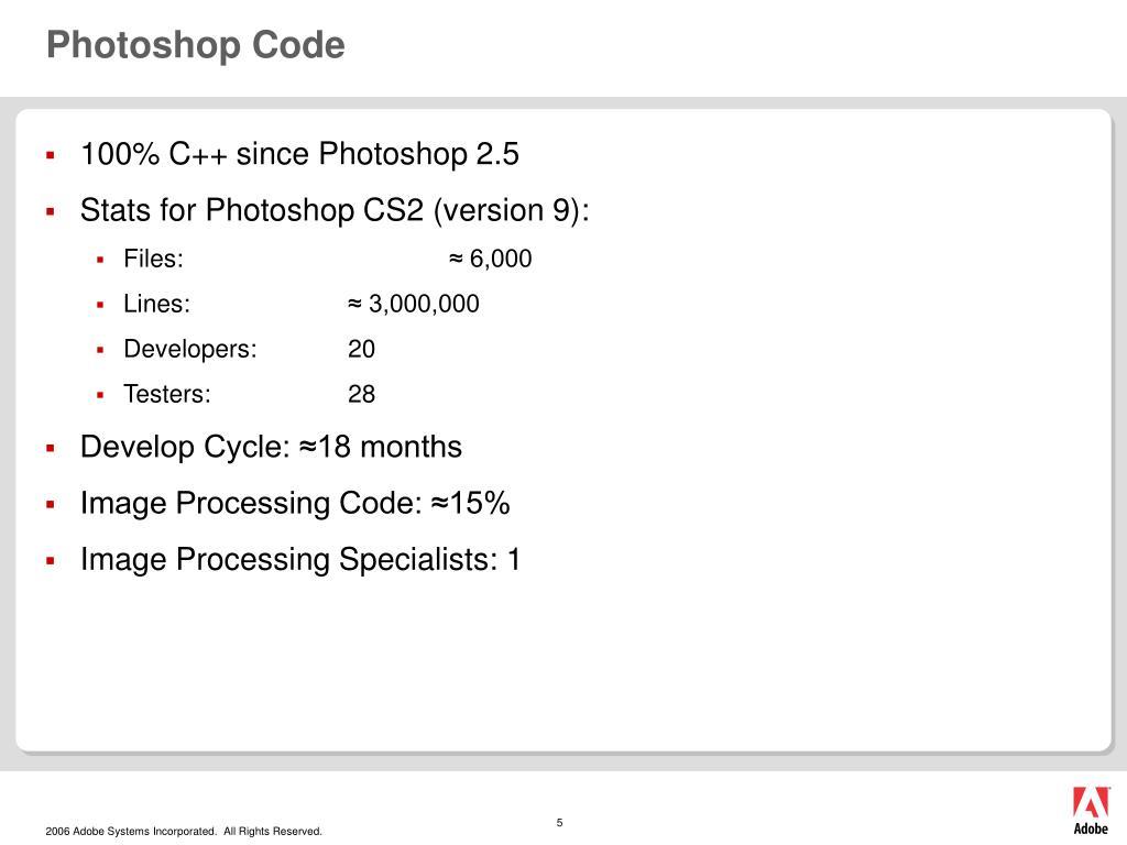Photoshop Code