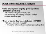 other manufacturing changes