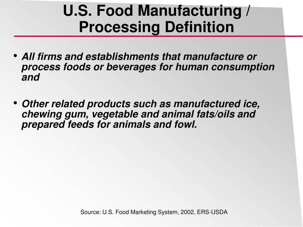 U.S. Food Manufacturing /