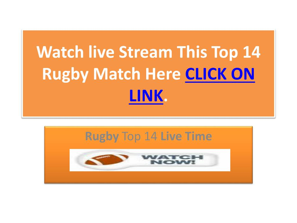 Watch live Stream This Top 14 Rugby Match Here