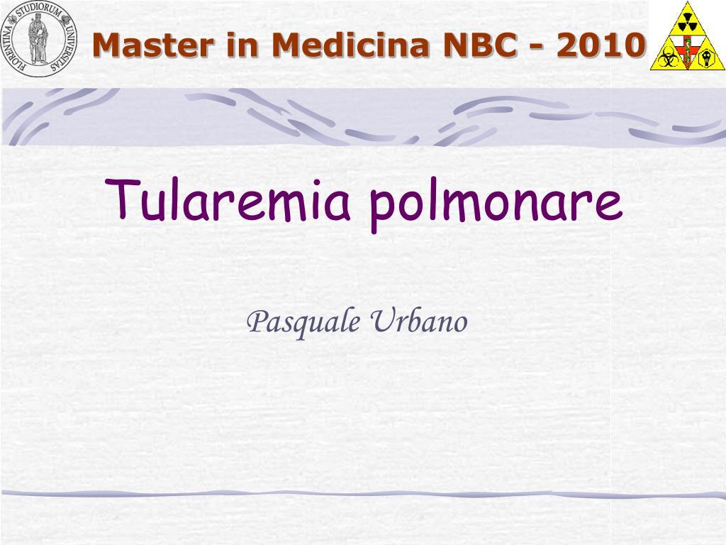 Tularemia polmonare