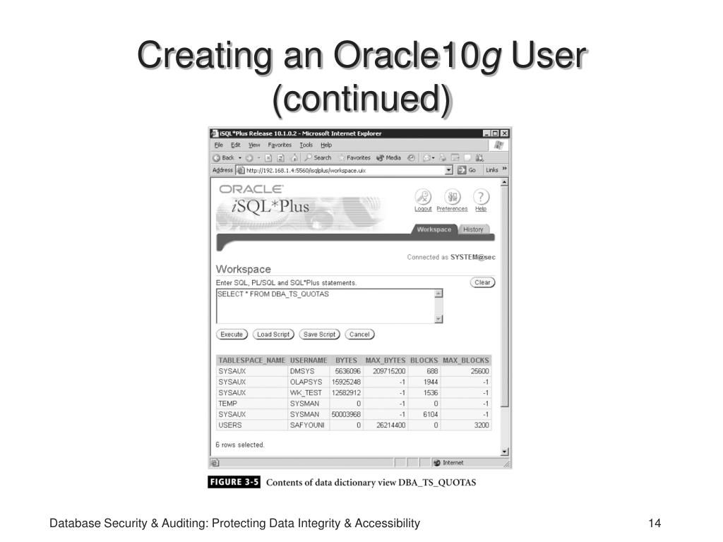 Creating an Oracle10