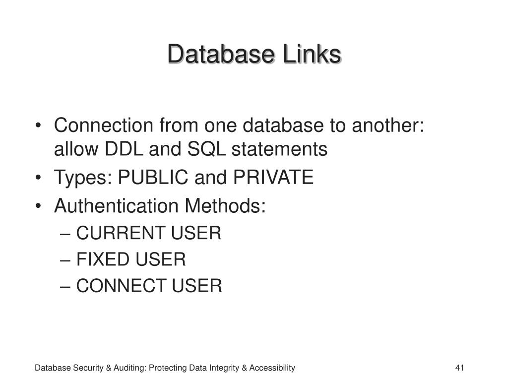 Database Links
