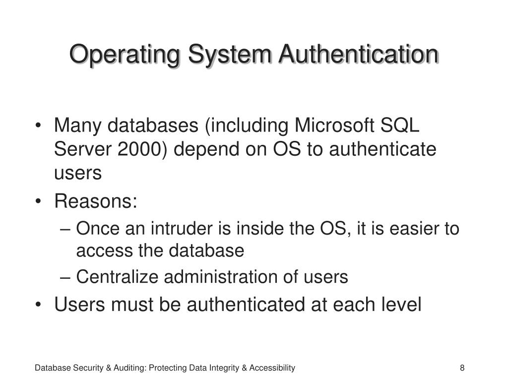 Operating System Authentication