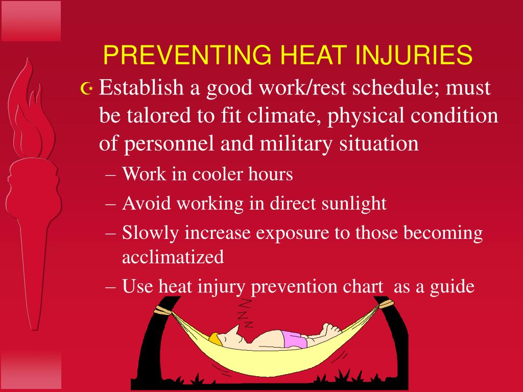 PREVENTING HEAT INJURIES