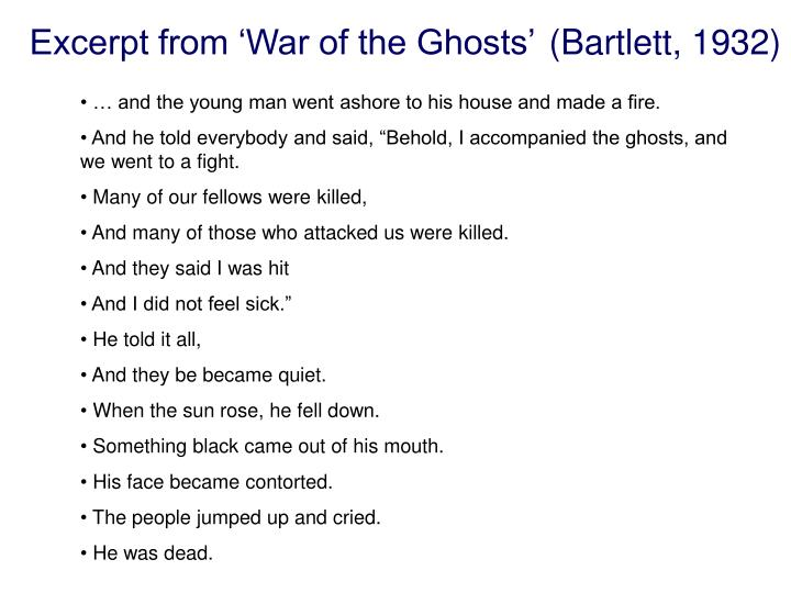 Excerpt from war of the ghosts bartlett 1932