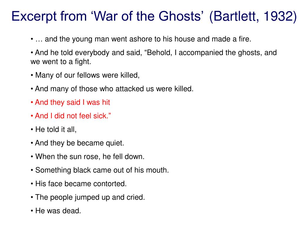Excerpt from 'War of the Ghosts'